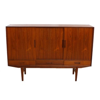 Danish Modern Teak & Rosewood Highboard/Bar Cabinet