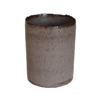 Gray Handmade Stoneware Vase
