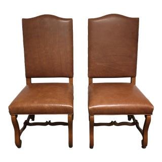 Pearson Leather Side Chairs - A Pair