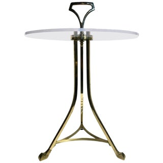 Mid-Century Brass & Lucite Side or Drinks Table