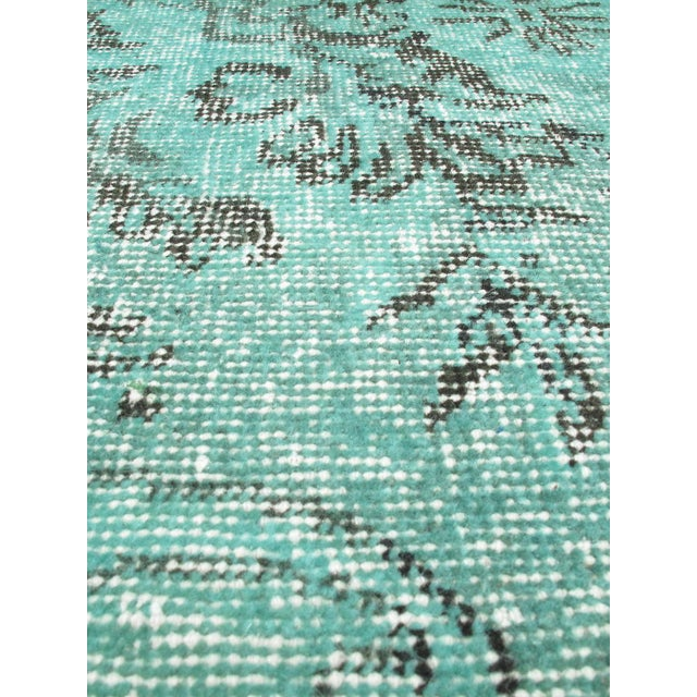 "Image of Green Vintage Turkish Overdyed Rug - 7'0"" X 10'5"""