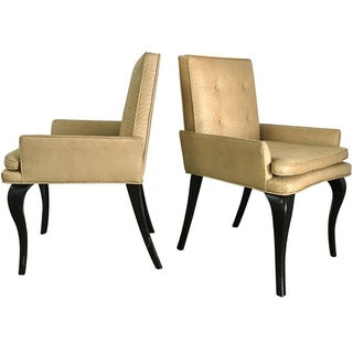 Donghia-Style Woven Leather Chairs - A Pair