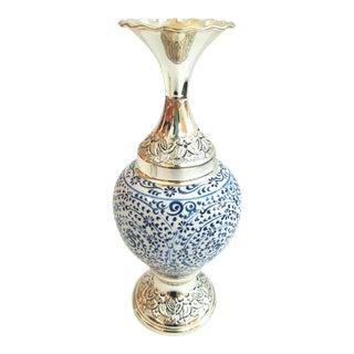 Silver Plated Handmade Vase