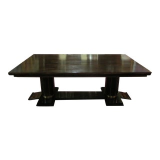French Art Deco Macassar Table Attributed to Jules Leleu