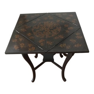 19th Century Chinese Lacquered Envelope Table