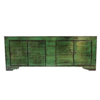 Emerald Green Mongolian Sideboard