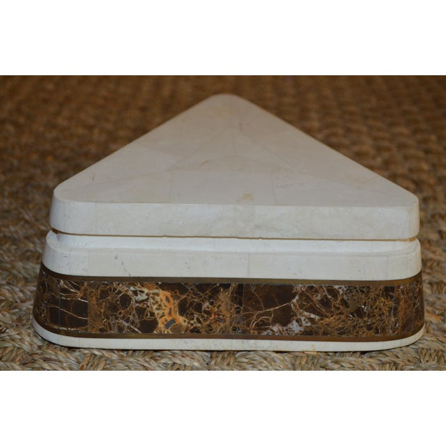 Triangle Tessellated Stone Trinket Box - Image 6 of 11