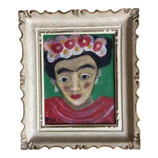 """Rose Walton """"Frida Kahlo"""" Painting"""