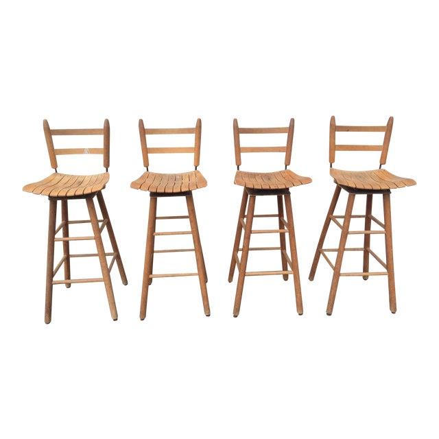 Arthur Umanoff Type Mid-Century Modern Bar Stools - Set of 4 - Image 1 of 6