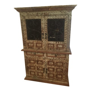 Wood & Wrought Iron Armoire