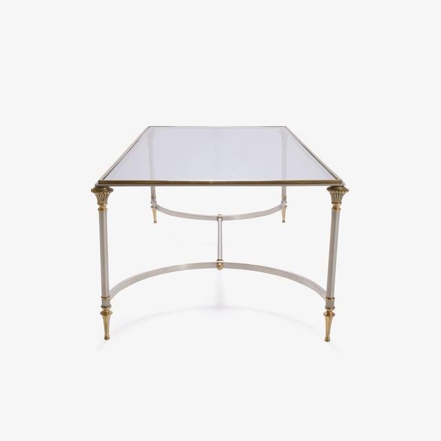 Maison Jansen Style Brass & Steel Cocktail Table - Image 4 of 7