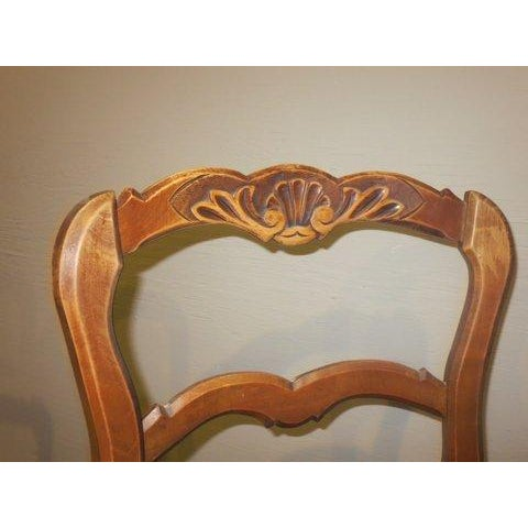 Antique 1900's French Country Side Chairs - Pair - Image 6 of 8