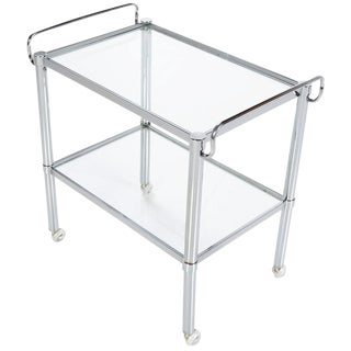Modern Chrome Bar Cart