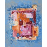 """Image of C. Plowden """"Box Arrangement #3"""" Abstract Painting"""