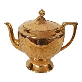 Vintage Gold and Black Teapot