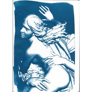 Cyanotype Print, Bernini Sculpture 3D Render