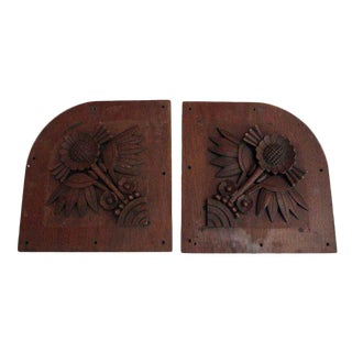 Wooden Decor Panels - A Pair