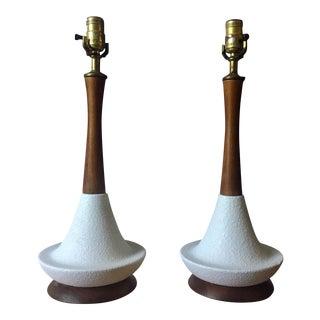Mid-Century Danish Modern Lamps - A Pair