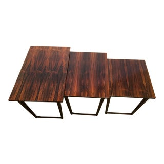 Mid-Century Rosewood Nesting Tables - Set of 3