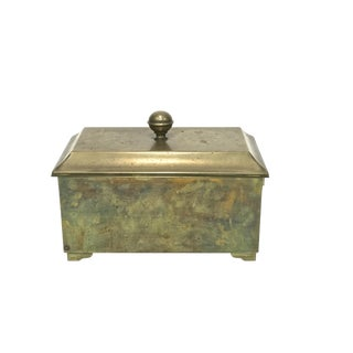 Footed Brass Box & Lid