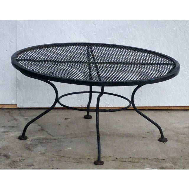Image of Woodard Vintage 1950s Sculptural Iron Coffee Table