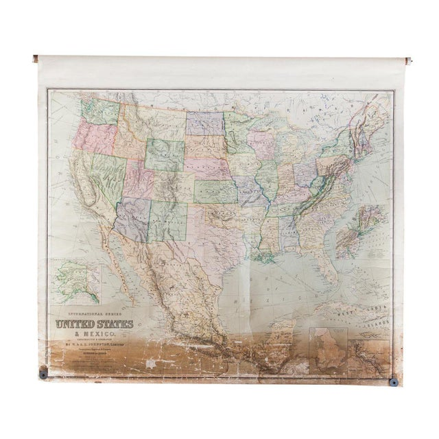 USA & Mexico Antique Pull Down Map - Image 1 of 10