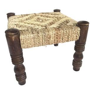 Bohemian Handwoven Rope Stool