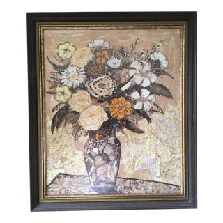 Butterfly & Moth Wing Floral Still Life Collage