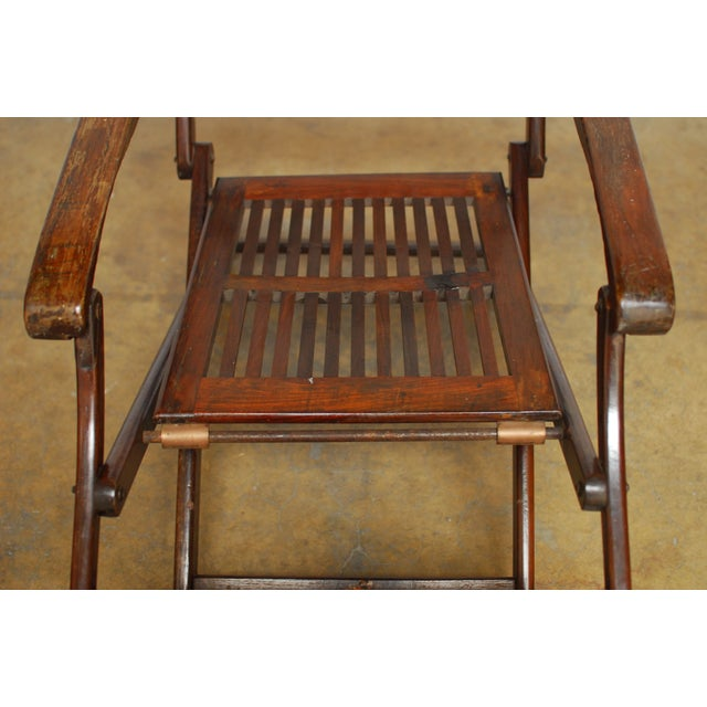Antique Ocean Steamer Deck Chair - Image 3 of 7