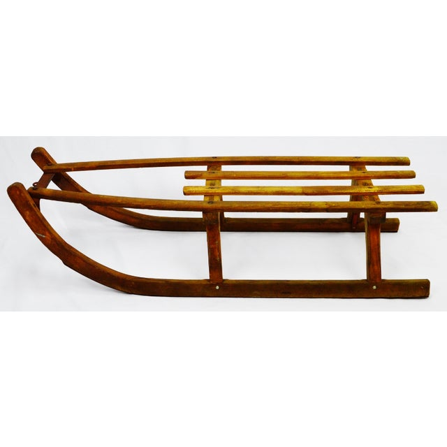 Early Children's Wooden Sled - Image 3 of 9