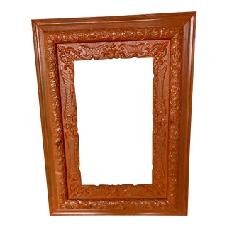 Vintage Orange Wood Frame