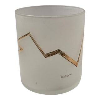 Katja Gold Leaf Lightning Bolt Votive