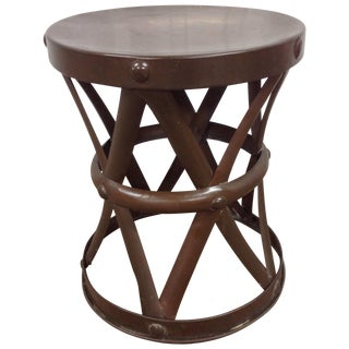 Mid Century Sarried LTD Brass Drum Table