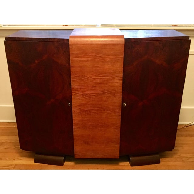 1930s Modernist Art Deco Rosewood Bar Cabinet - Image 2 of 10