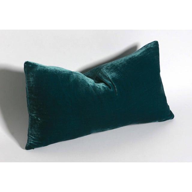 Teal Silk Velvet Lumbar Pillow Cover Chairish