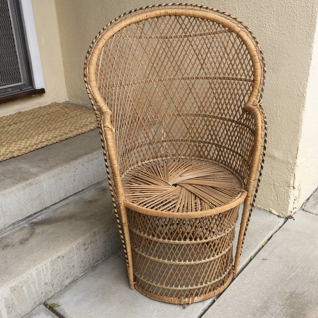 Vintage Boho Chic Wicker Chair - Image 10 of 10