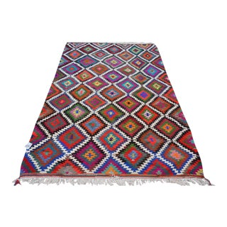 Vintage Turkish Kilim Rug - 6′8″ × 10′4″