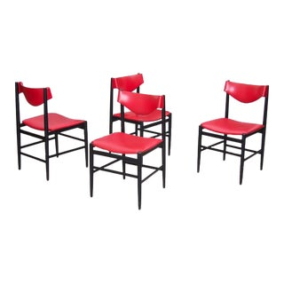 Set of Four Chairs by Gianfranco Frattini for Cassina