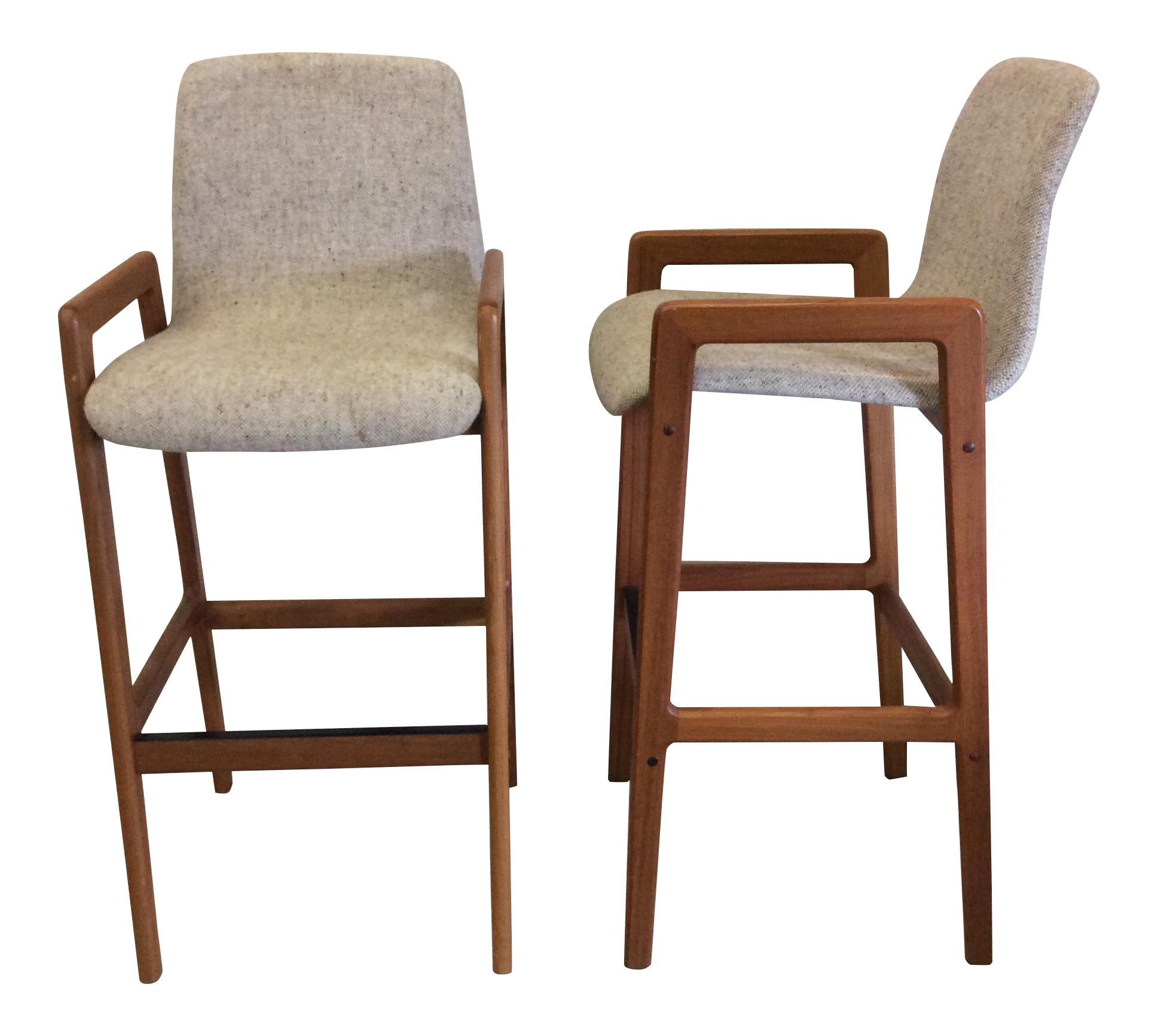 Danish Teak Bar Stools A Pair Chairish