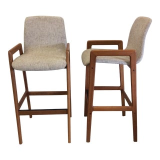 Danish Teak Bar Stools - A Pair
