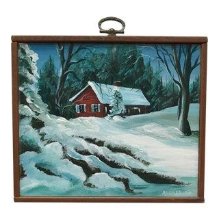 Original Vintage Miniature Landscape Painting