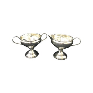 Sterling Silver Sugar and Creamer - Set of Two