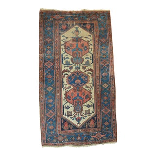 "Antique Persian Hamadan Rug - 3'4"" X 6'2"""