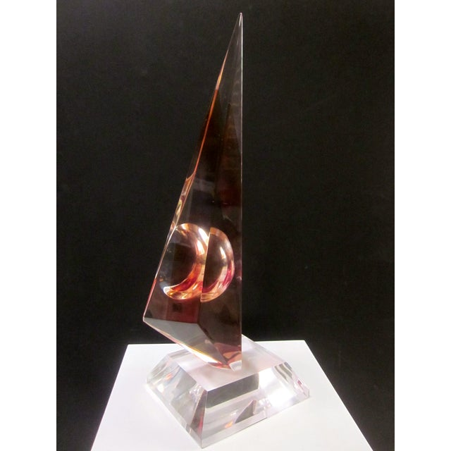 Image of Modernist Lucite Abstract Sculpture