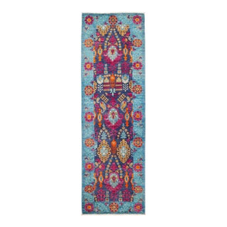 """Suzani Hand Knotted Runner Rug - 2' 8"""" X 8' 4"""""""
