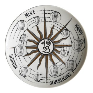 Fornasetti Calendar Plate for 1993, 26st in series. Numbered 358 of 750, Barnaba Fornasetti.