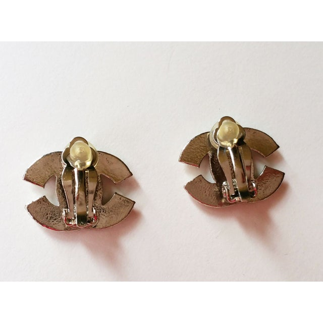 Image of Chanel Blink CC Large Clip on Earrings