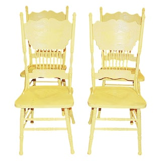 Yellow Pressback Chairs - Set of 4
