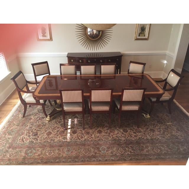 Image of Baker Mahogany & Gold Regency Dining Set