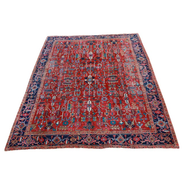 Antique Persian Heriz Rug - 9′6″ × 12′6″ - Image 2 of 6